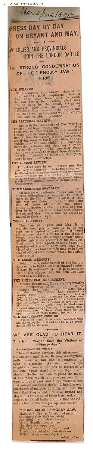 Press day by day on Bryant and May, 'The Star' 4 June 1898