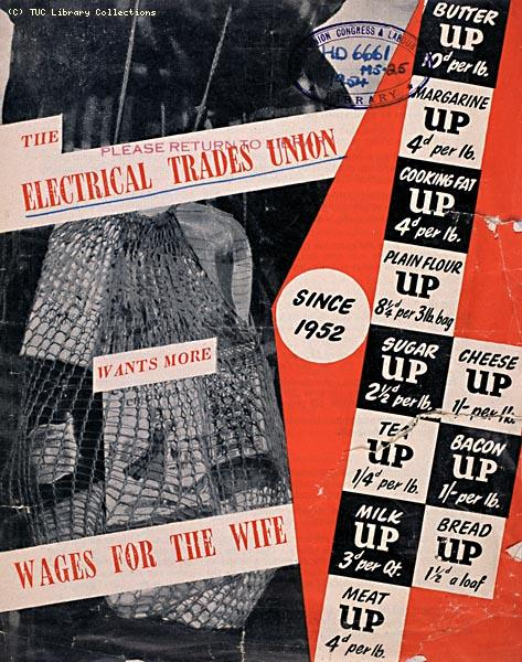 Electrical Trade Union leaflet, 1954