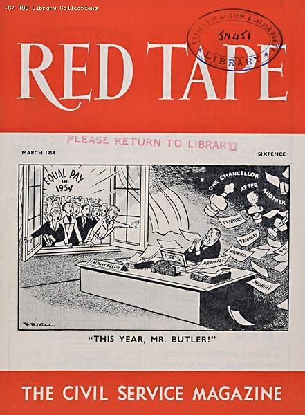 Equal Pay cartoon, 'Red Tape', 1954
