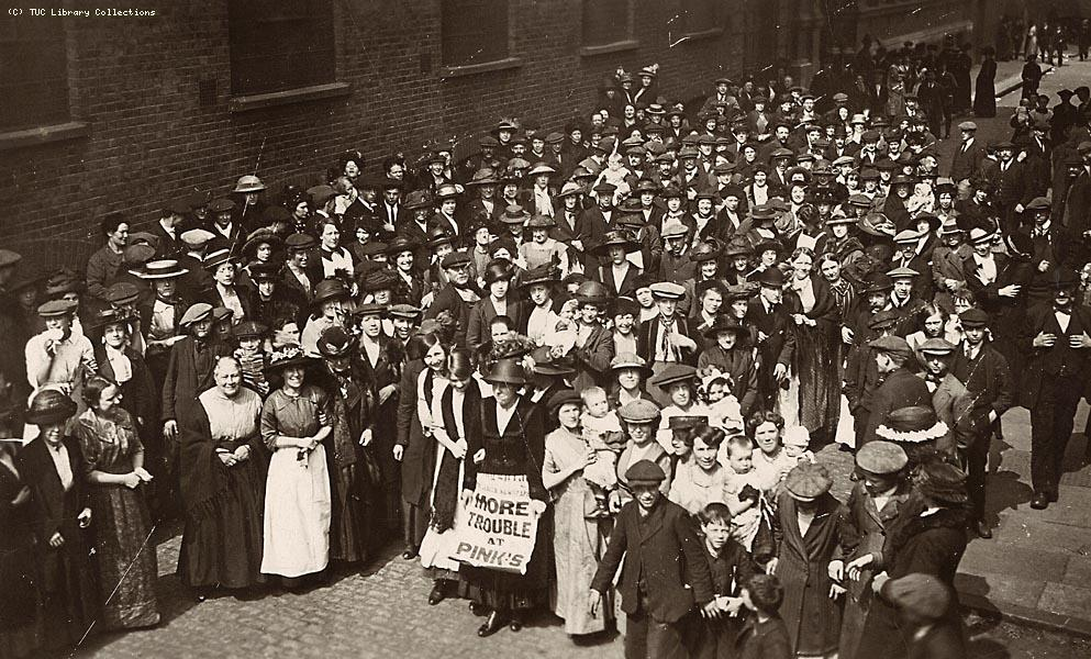 Pinks' Jam Factory, strikers, Bermondsey, 1911