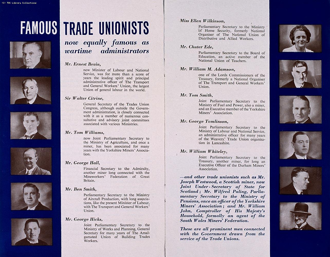 'The trade unionist and the war', 1943