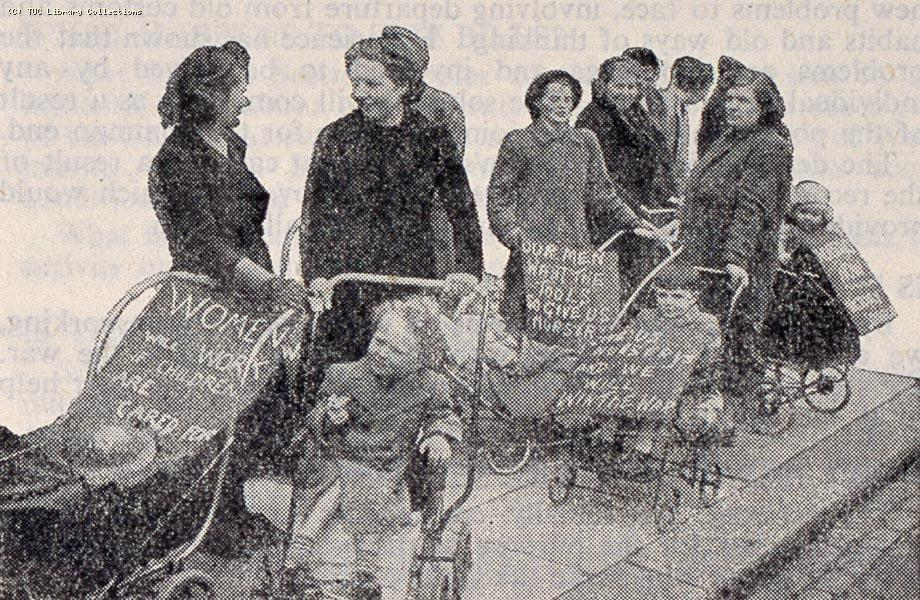 Demonstration for wartime nurseries, 1942