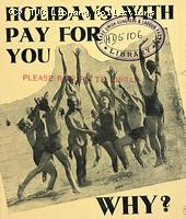 Holidays with Pay - TUC leaflet, 1939