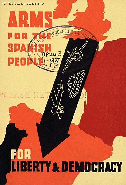 Spanish Civil War postcard, 1937