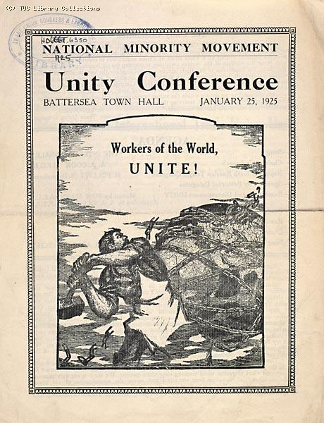 National Minority Movement, Unity Conference, 1925