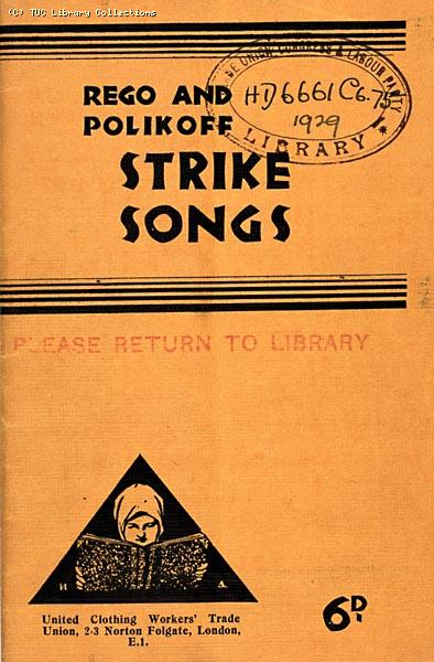 Rego and Polikoff strike songbook, 1929