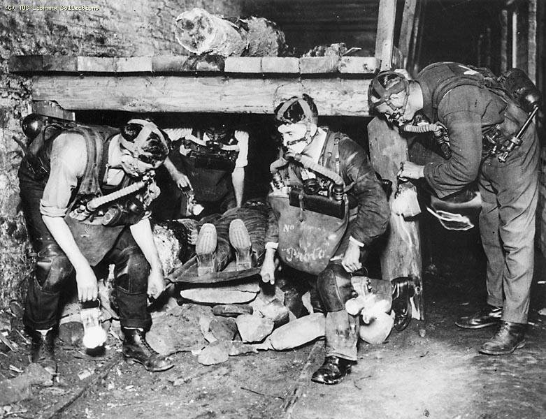 Coal miners rescue team, 1930s