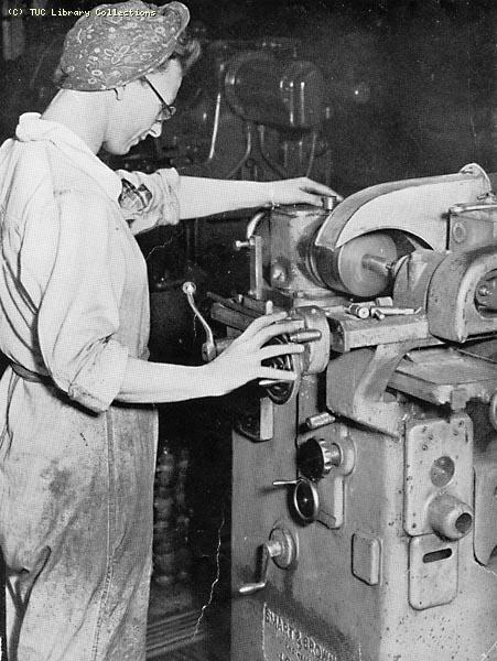 Women war worker in munitions industry, 1943