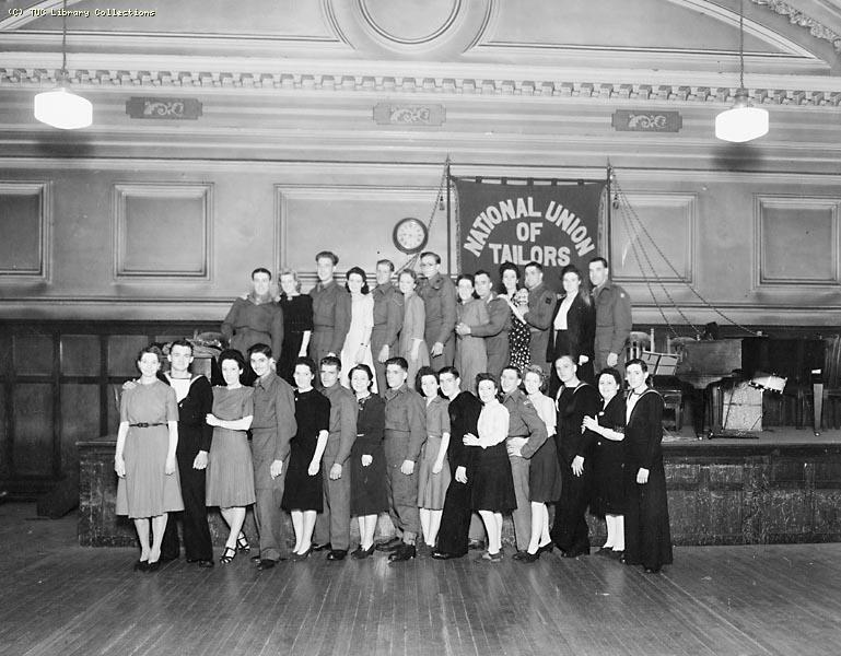 National Union of Tailors and Garment Workers' social, Glasgow, 1940s