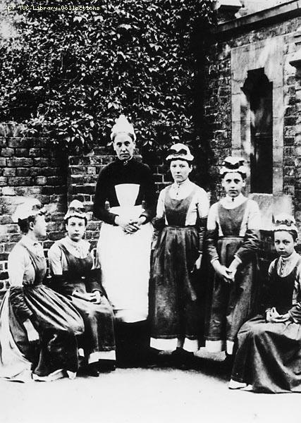 House keeper and domestic staff c.1900