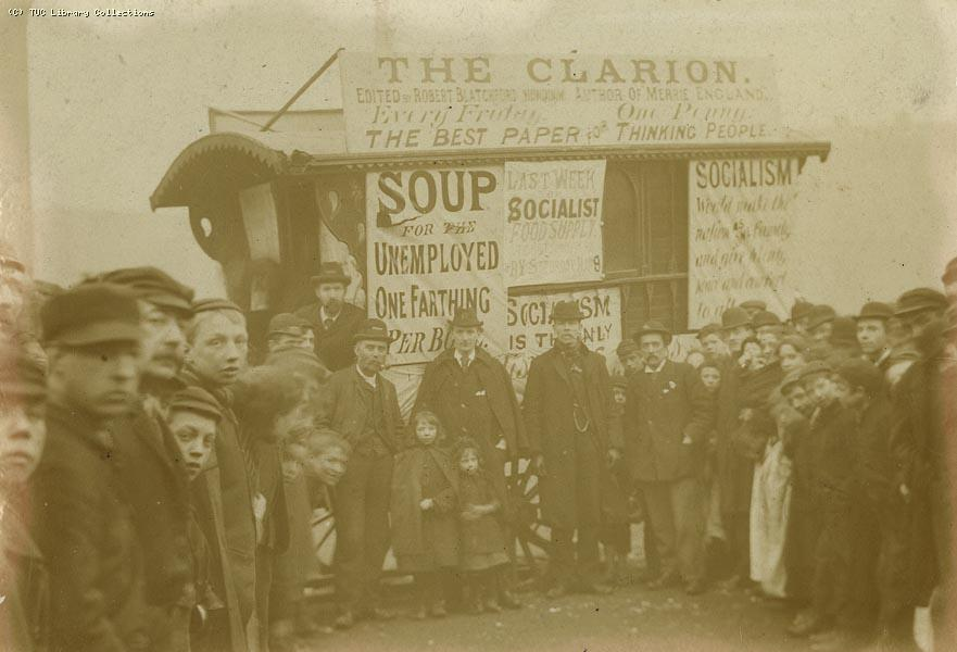 Socialist soup van in Liverpool, 1894
