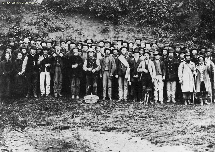 Meeting of the Norfolk Federal Union, at Swanton Morley sandpit near Dereham in the 1870s