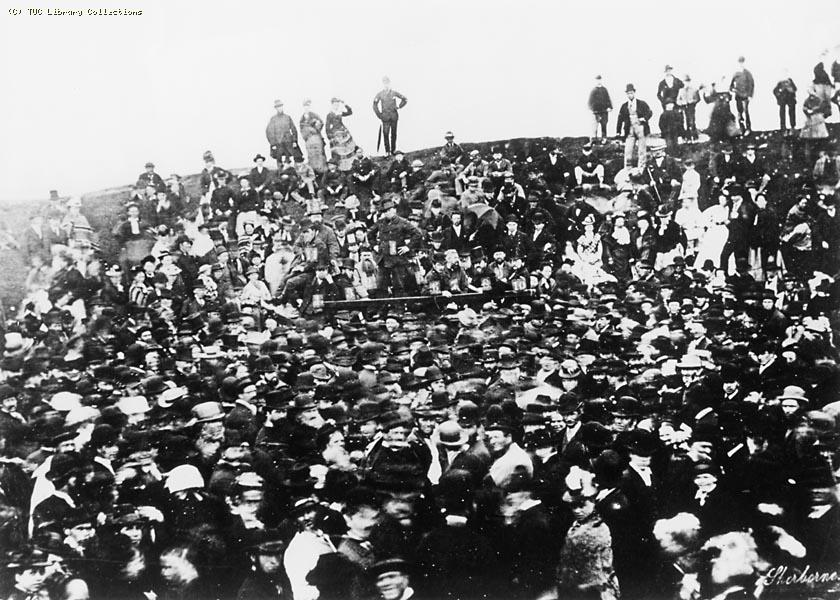 Demonstration at Ham Hill, Yeovil, 1877