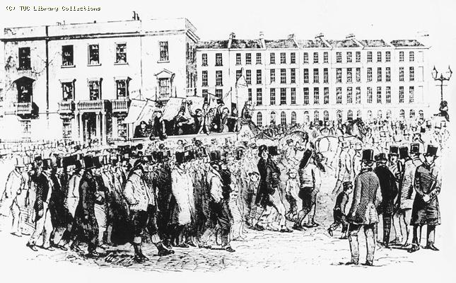 The Great Charter Procession at Blackfriars, 1848