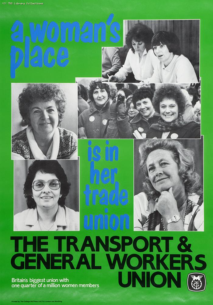 A woman's place is in her trade union - poster 1978