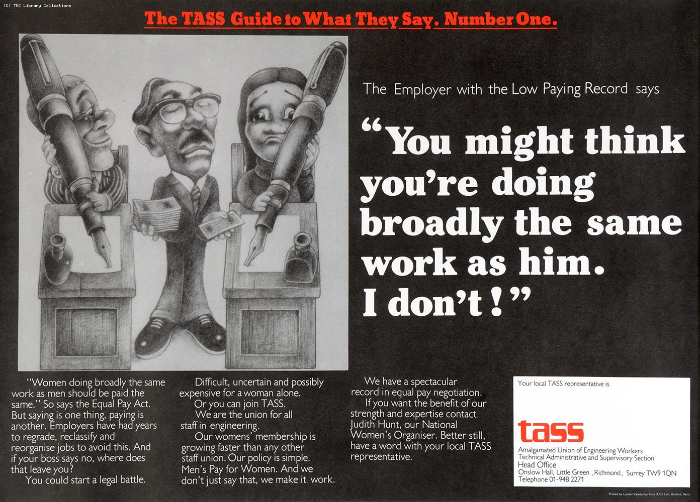 The TASS guide to what they say - poster 1, c 1976