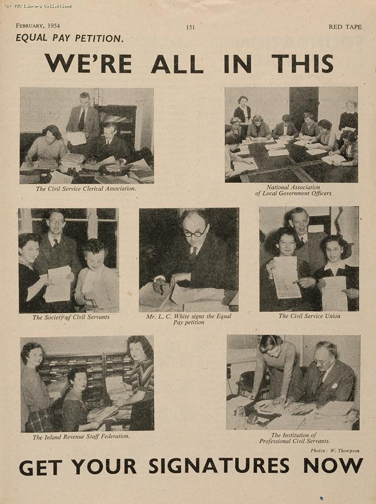 Equal pay petition, 1954