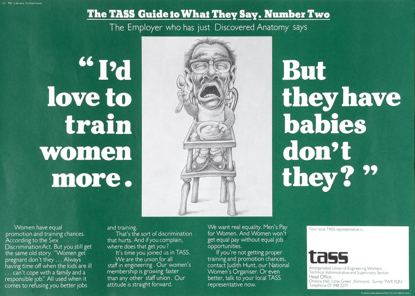 The TASS guide to what they say - poster 2, c 1976