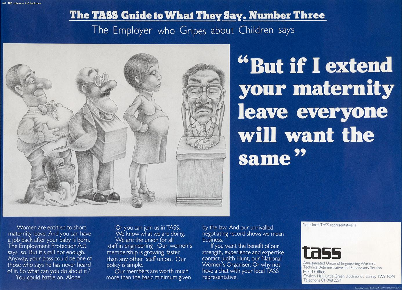 The TASS guide to what they say - poster 3, c 1976
