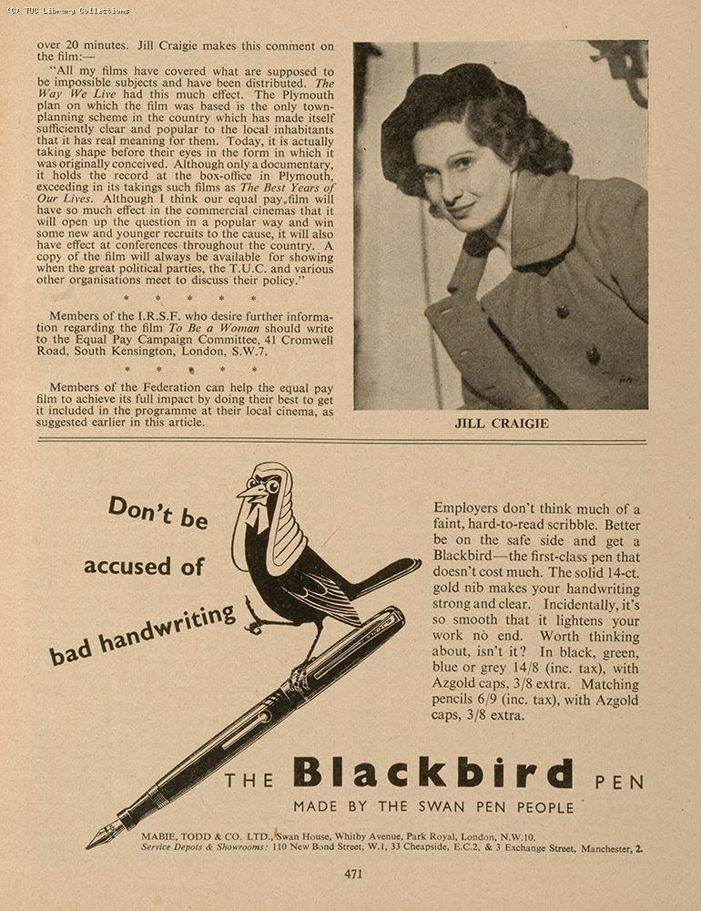 Equal pay film, 1951
