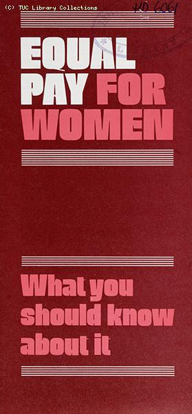 'Equal pay for women - what you should know about it, 1984