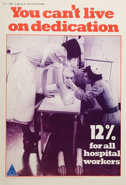 Hospital workers pay campaign, 1982
