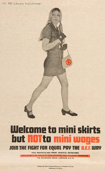 Welcome to mini skirts but not to mini wages, 1968