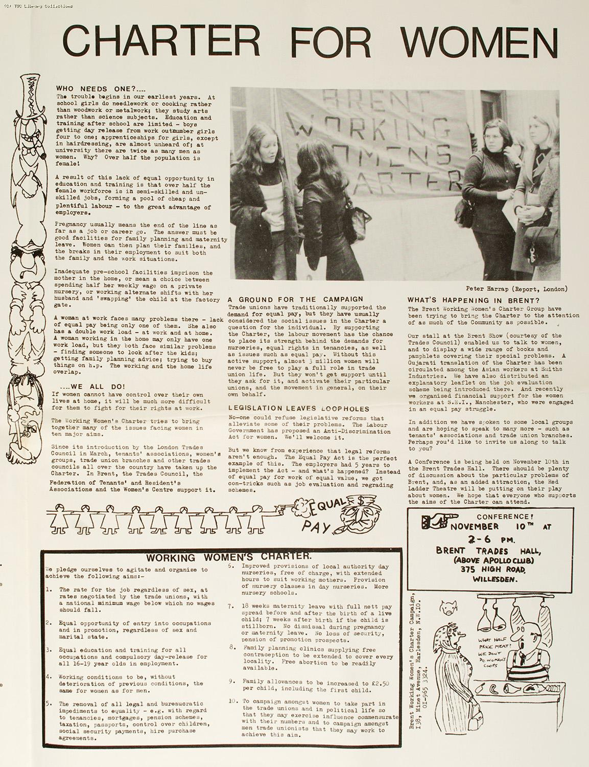 Brent Working Women's Charter Campaign, 1974