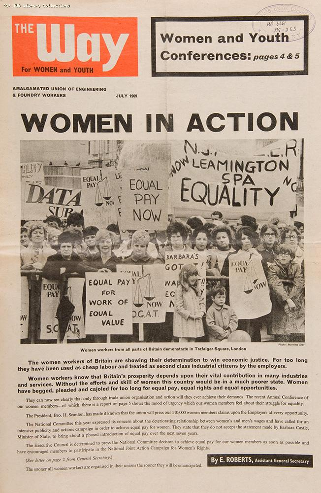 Equal pay demonstration, 1969