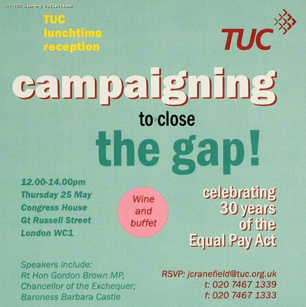 Campaigning to close the gap, 2000