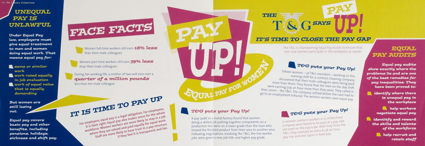 Pay up! Equal pay for women - TGWU leaflet, 2002