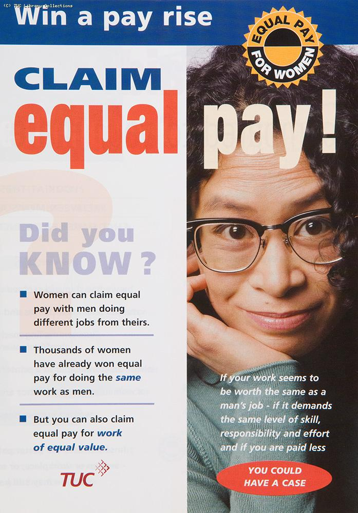 Claim equal pay! - TUC leaflet, 1997