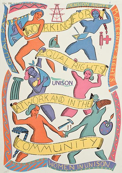 Women in UNISON postcard, 1996