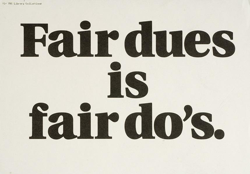 Fair dues is fair do's, 1991.