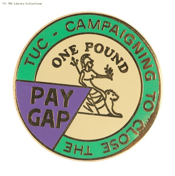Campaigning to close the pay gap - badge 2000