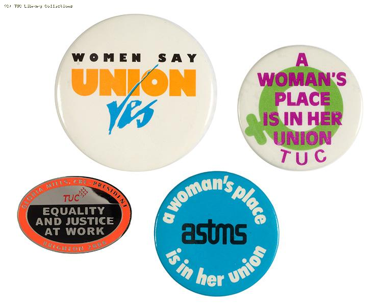 Women's trade union badges, 1980-2006