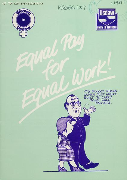 Equal pay for equal work - USDAW pamphlet, 1988