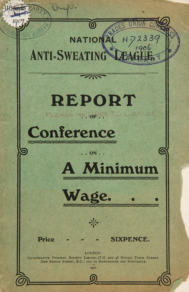 Minimum wage conference, 1906