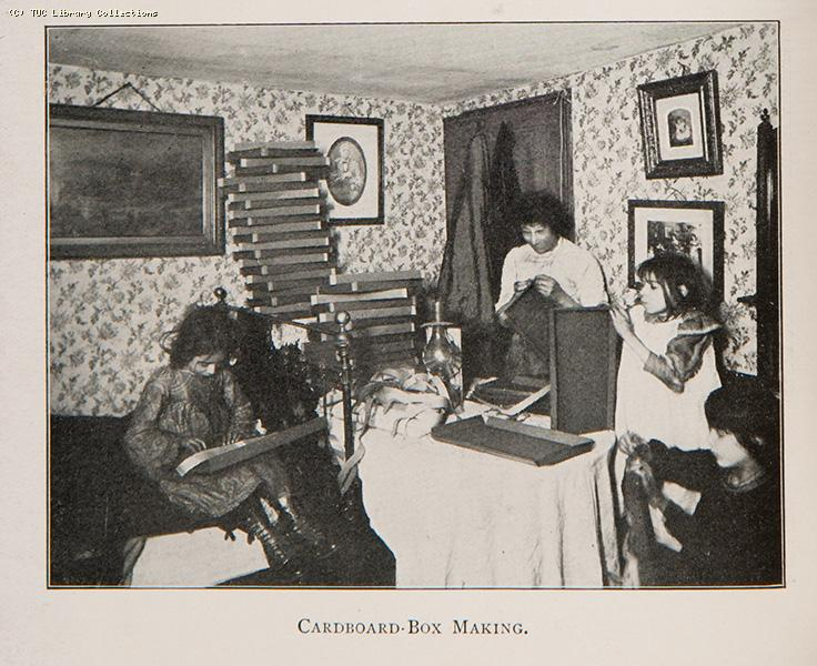 Cardboard box making, 1906