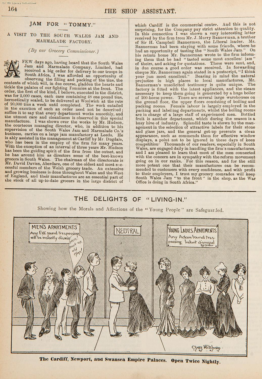 The delights of 'living-in', 1901