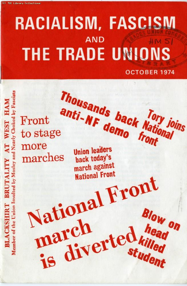 Racialism, fascism and the trade unions - TGWU pamphlet, 1974