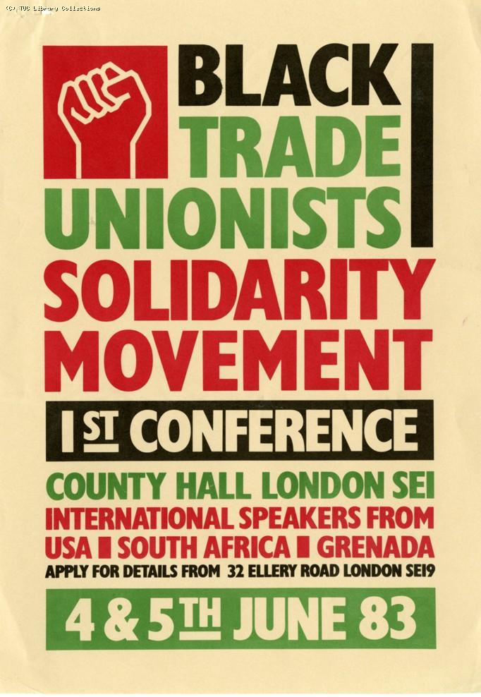 Black Trade Unionists Solidarity Movement conference, 1983
