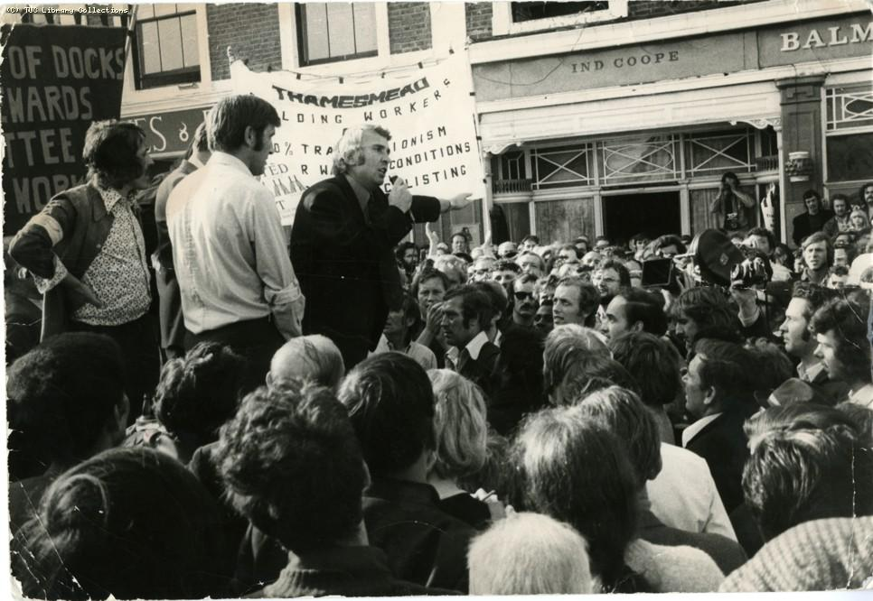 (Release of the Pentonville Five, 1973, via unionhistory)