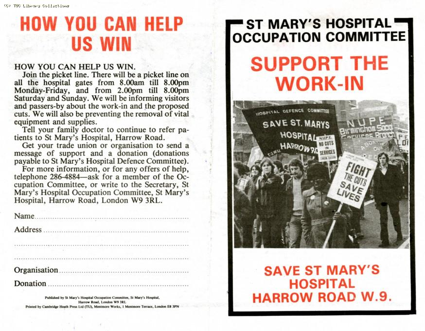 St  Mary's Hospital occupation, 1981