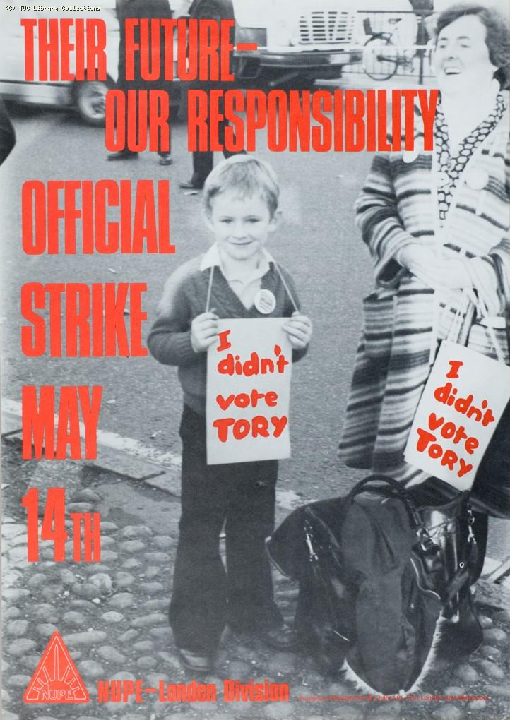 NUPE strike poster, 1980