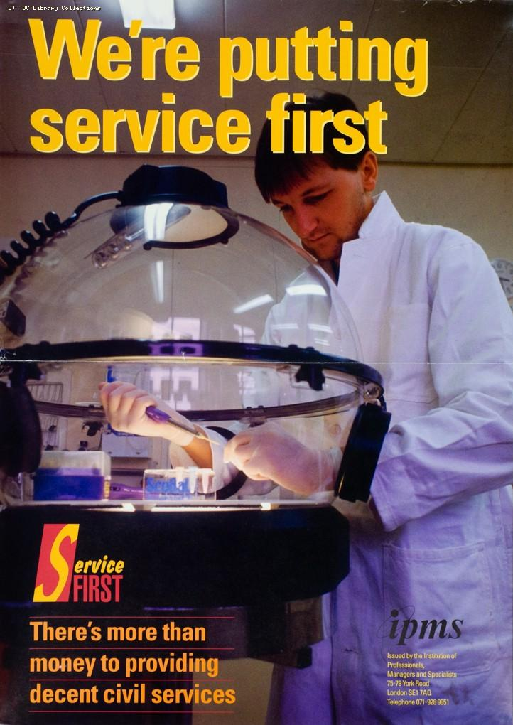 We're putting service first - IPMS poster, c. 1990