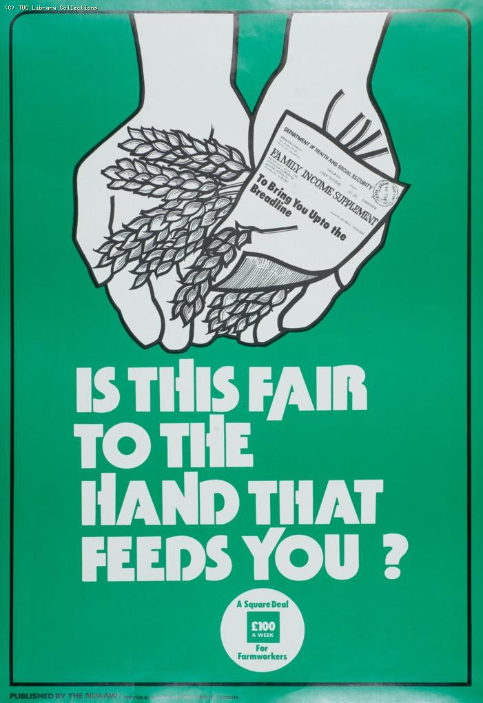 Farm workers' pay campaign, c. 1981
