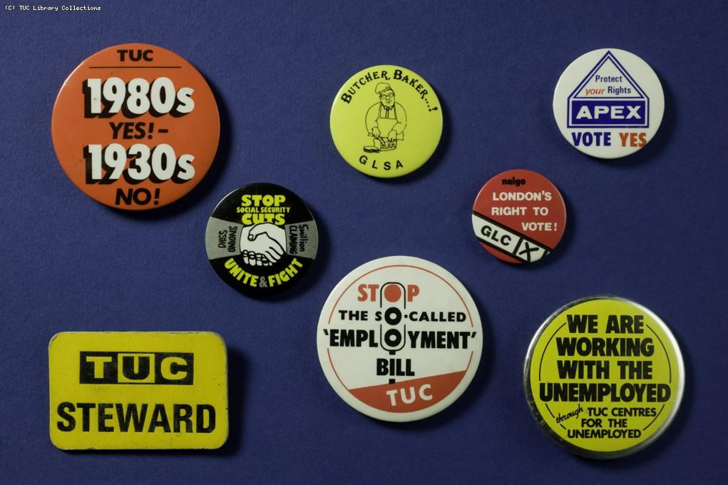 Union badges 1975-1990