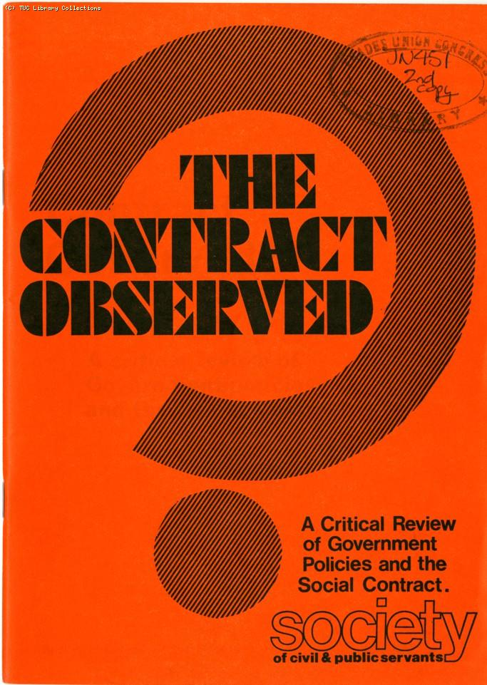 The contract observed - SCPS pamphlet, 1977