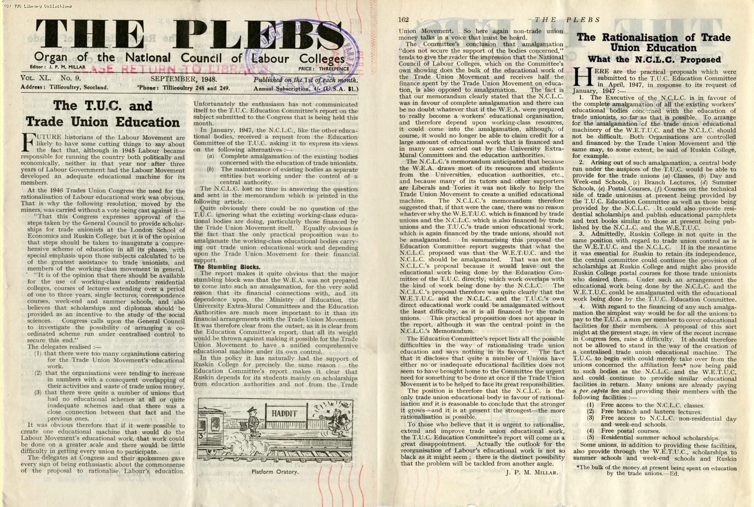 The Plebs, 1948